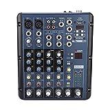 Mezclador de audio profesional, ER-9000F6 Mezclador de sonido de audio Consola de mezcla de 6-8 canales Controlador de consola de mezcla de sonido de estudio para grabación por computadora