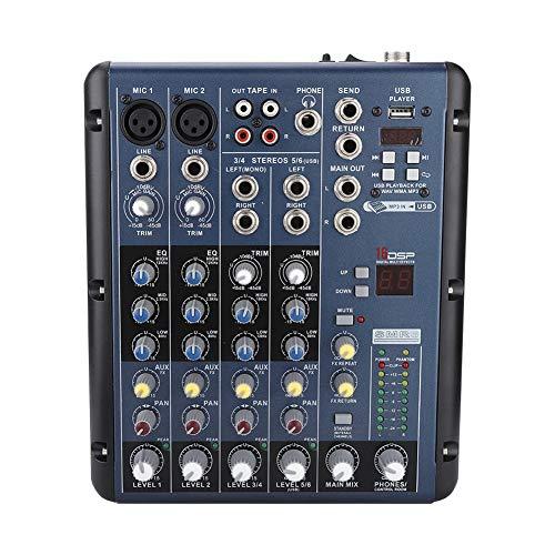 Mezclador de audio profesional, ER-9000F6 Mezclador de sonido de audio...