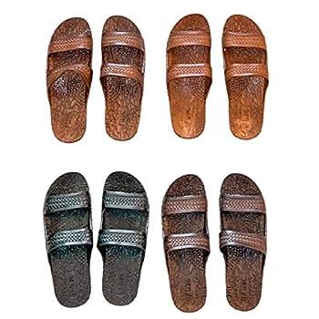 J-Slips Mens Hawaiian Jesus Sandals in 6 Cool Colors - Big Men Sizes  Coconut 13