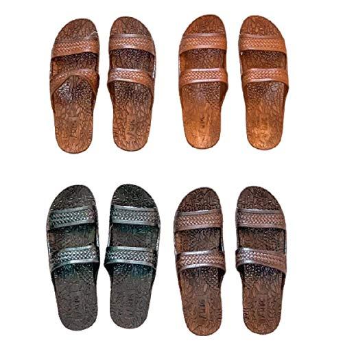 J-Slips Mens Hawaiian Jesus Sandals in 6 Cool Colors - Big Men Sizes (Coco M11)