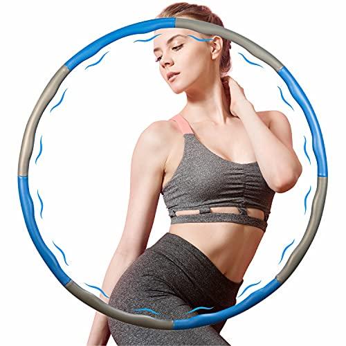 Bestray Hula Hoop - Aro de gimnasia para adultos, 8 secciones desmontables, para adultos y niños, para pérdida de peso, masaje y pérdida de peso, ejercicio