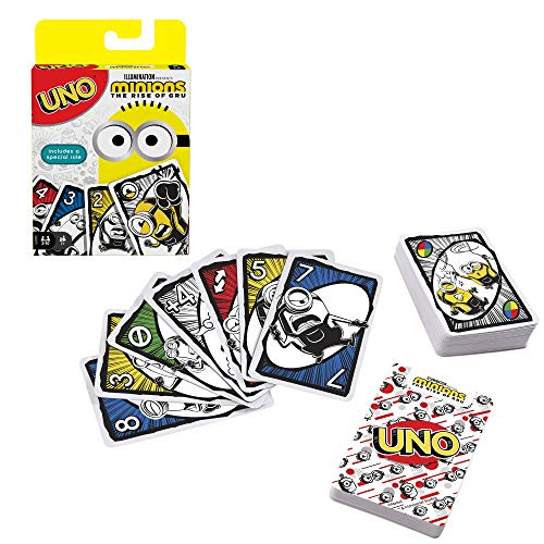 UNO Featuring Illumination's Minions: The Rise of Gru, Card Game for Kids and Family with 112 Cards, for 7 Year Olds and Up