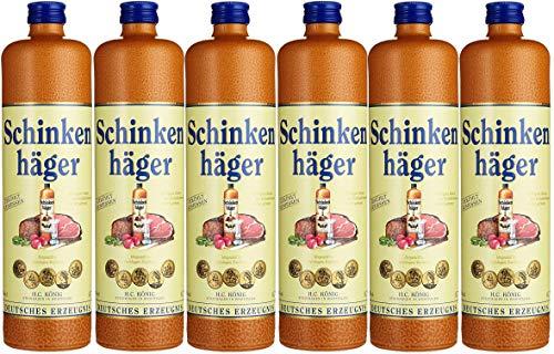 6 Flaschen Schinkenhäger a 0,7l 38% vol. 4,2l