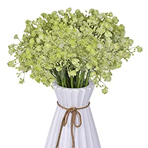 Anna Homey Decor Fake Flowers 24 Pcs Artificial Baby Breath Flowers 3 Forks Plastic Bouquet Bush Gypsophila Artificial