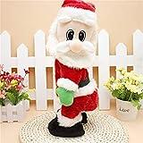 Electric Twerk Santa Claus Twisted Wiggle Hip Singing Dancing Christmas Santa Doll Plush Toy for Kids -Spanish Song
