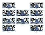 WMYCONGCONG 10 PCS HC-SR04 Ultrasonic Distance Measuring Sensor Module for Arduino