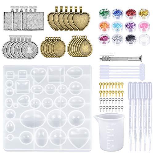Dreamtop - Juego 155 piezas joyería resina incluye