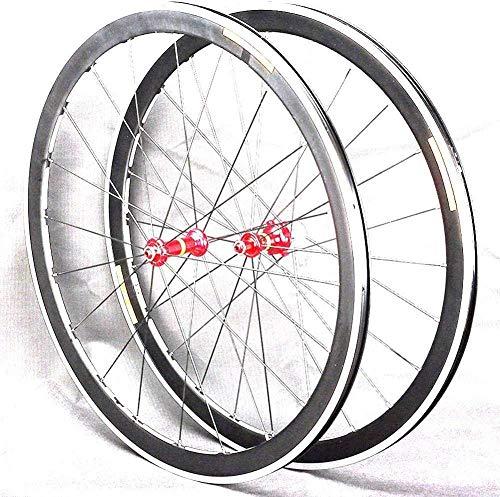 XIAOL Juego De Ruedas De Bicicleta De Carretera 40Mm High Cutter Wheel 700C Rueda De Bicicleta 24 Agujeros En La Parte Delantera 20 Agujeros 4 Palin