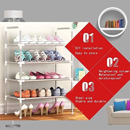 Yxsd Estantes de zapatos extensibles apilables para pasillo Zapatos, soporte organizador de almacenamiento para entradas, tela no tejida, ahorro de espacio (tamaño: 6 niveles - 18 pares de zapatos)