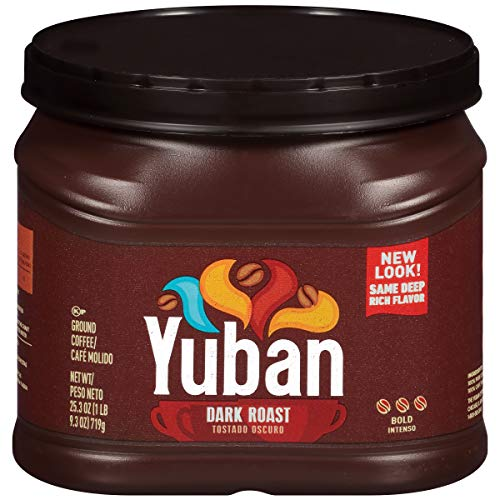 Yuban Bold Dark Roast Ground Coffee (25.3 oz Canister), brown