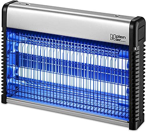 ZAP - Lampada anti-zanzare 20 W Plein Air, ultra viola, superficie 80 m2, colore: Grigio metallo