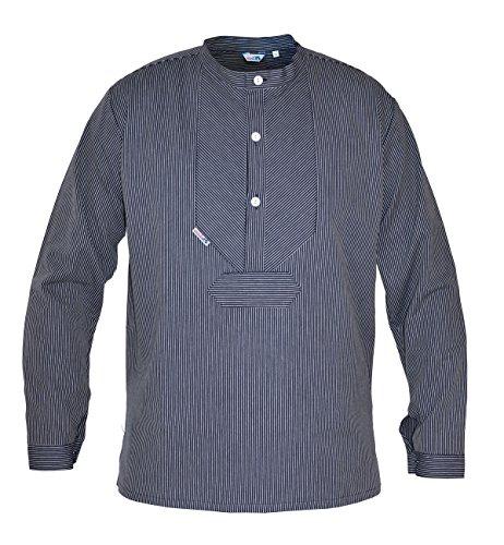 modAS original traditionelles Finkenwerder Fischerhemd für Damen und Herren, Farbe:schmaler Streifen, Größe:Herren 52 und Damen 46