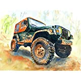 LBGMN Diy Diamond Painting Car 5D Set For Embroidery Cross-Stitch Embroidery Diamond Off-Road Vehicle Scenery Painting