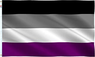 rhungift Asexual Pride Flag 3x5Ft,Vivid Color and UV Fade Resistant with Brass Grommets-100% Super Polyester Material -Gray Asexuality Flags,Complete Set Pride Banner