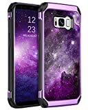 BENTOBEN Galaxy S8 Case, Phone Case Samsung S8, Slim Fit Glow in The Dark Shockproof Protective Dual Layer Hybrid Hard PC Soft TPU Bumper Drop Protection Non-Slip Girl Women Covers,Nebula/Space Design