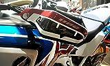 Kit DE Adhesivos 3D para GUARDAMANOS DE Moto Compatible con Honda Africa Twin Adventure 1100 L Rojo Carbón Ergal