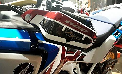 KIT ADESIVI 3D per PARAMANI MOTO compatibile con HONDA AFRICA TWIN ADVENTURE 1100 L Carbonio Rosso Ergal