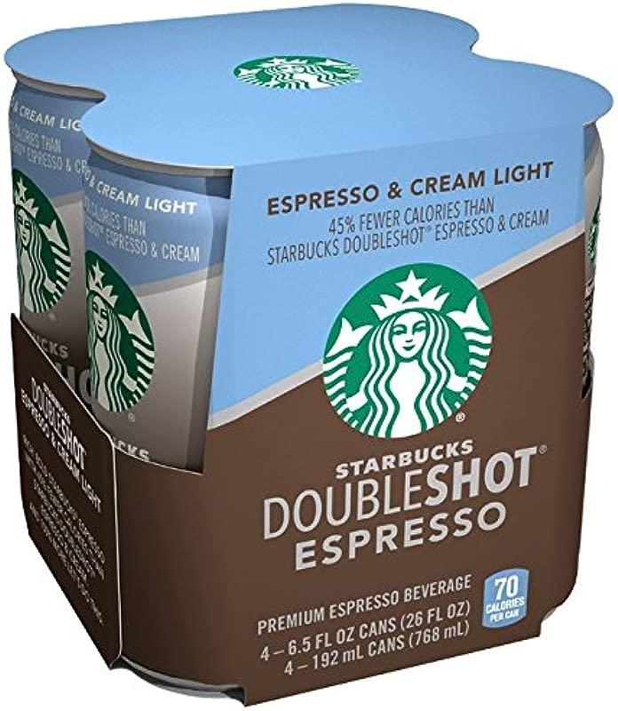 Starbucks Double Shot Espresso Light 6 5 Fl Oz 4 Count