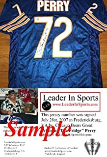 """William """"The Fridge"""" Perry Signed Jersey - Chicago Bears"""