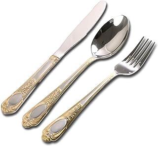 YWDGZFB 24 قطعة من أدوات المائدة المنزلية تعيين الغذاء الغربي