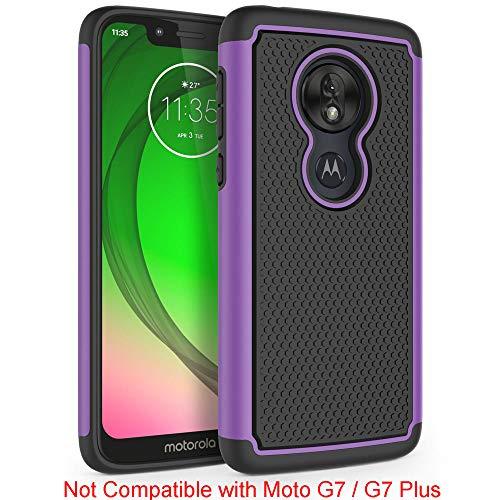 "SYONER Shockproof Phone Case Cover for Motorola Moto G7 Play/T-Mobile Revvlry/Moto G7 Optimo (XT1952DL) (5.7"", 2019) [Purple]"