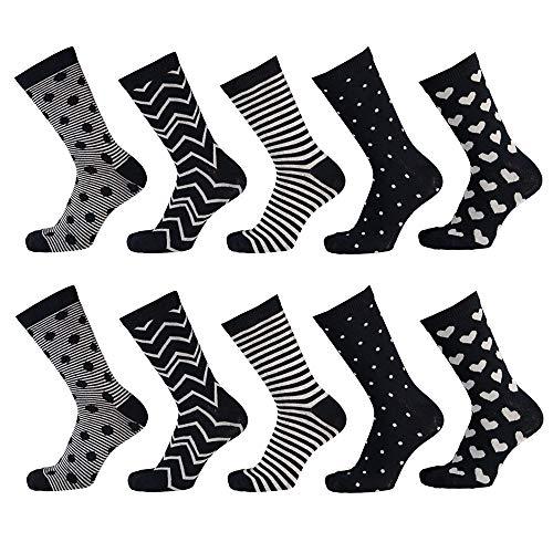 Apollo Damen Bunte Socken, Multi Navy, 35/42