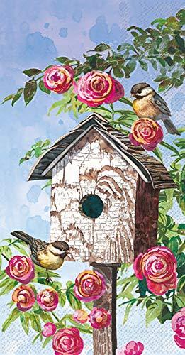 Boston International IHR 3-lagiges Gästehandtuch Buffet Papierservietten, 21,6 x 11,4 cm, schönes Vogelhaus