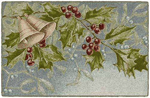 Brumlow MILLS - Alfombra de Navidad Lavable con muérdago y Bayas para Interiores o Exteriores, para salón o Comedor, recámara y...