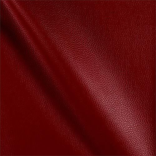 Fabric Cabo Faux Leather Cinnaber Yard