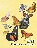Agenda 2022: Mariposas vintage en vuelo. Planificador diario de un año. Formato largo. Una página por día, horarios de 6...