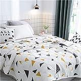 Fansu Tagesdecke Bettüberwurf Steppdecke Mikrofaser Doppelbett Einselbetten Gesteppt Bettwäsche Sofaüberwurf Wohndecke Bettdecke Stepp Gesteppter Quilt (Dreieck,150x200cm)