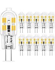 G4 LED-lampen 2W equivalent aan 20W G4 Halogeen 12V AC/DC, Warm Wit 3000K, G4 Pin Base, Geen flikkering, Niet Dimbaar, 10 Pack
