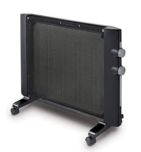 Calefactor Portátil térmico de mica panel calefactor, tranquila habitación completa 1500W, independiente / Instalación simple montaje en pared, Termostato ajustable y 2 configuraciones de temperatura.