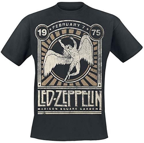 Led Zeppelin Madison Square Garden 1975 Männer T-Shirt schwarz 3XL 100% Baumwolle Band-Merch, Bands