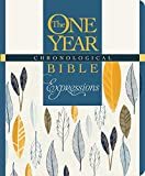 The One Year Chronological Bible Expressions, Deluxe (Hardcover, Blue)