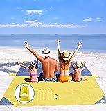 Manta de Playa 275cm x 240cm Manta de Camping para 7-8 Personas, Manta de Picnic a Prueba de Arena, Manta de Gran tamaño Alfombrilla Impermeable para Camping Senderismo Picnic