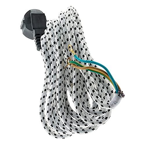 Inotech - Cable para plancha (trenzado de rayas, 3 m)
