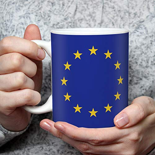 Geschenk Tasse mit Flagge Europa Länder Flaggen Geburtstagsgeschenk Souvenir Europäische Union für Reiseliebhaber Frauen Männer