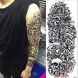 5pcs Impermeable Tatuaje Mecánica de la Etiqueta engomada de Pescado Rose Brazo Lleno de Tatto Gran tamaño de Las Mangas del Tatuaje para los Hombres Las Mujeres Girl-
