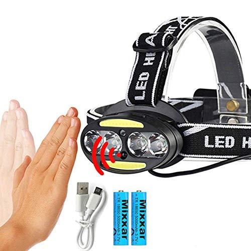 HSZH Scheinwerfer Zk20 Induktiver Körperbewegungssensor 30000lm Led Scheinwerfer Licht 4 * T6 + 2 * cob Dropshipping Scheinwerfer Scheinwerfer + 2x18650 Batterie B