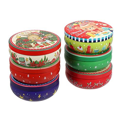 Hemoton Cajas de Caramelos de Navidad Redondas Bolsas de Regalo para Fiestas de Anidamiento Cajas de Dulces para Fiestas de Cumpleaños Y Fiestas de Fiesta de Cumpleaños de Fiesta de