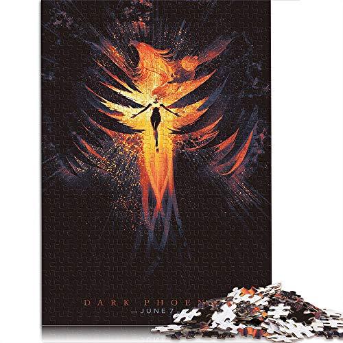 X-Men: Black Phoenix 1000 Piezas de Rompecabezas de Regalo para Adultos Phoenix Mujer músico Gris 1000 Piezas de Rompecabezas para Adultos Adolescentes Juguetes de Bricolaje 20.4'x14.9