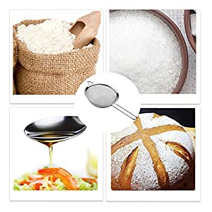 Set of 3 Fine Mesh Strainers,Stainless Steel Stainer with Long Handle,Juice Egg Filter Flour Sieve for Tea,Coffee,Fruit |