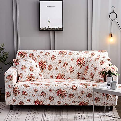 Fundas de sofá con Estampado de Flores para Sala de Estar Funda elástica elástica Fundas de sofá seccionales de Esquina A28 2 plazas