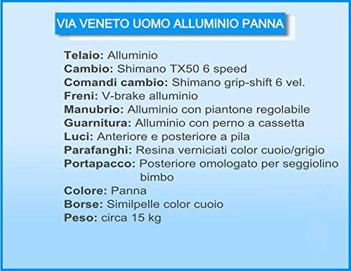 Via Veneto by Canellini Fahrrad Rad Citybike CTB Herren Vintage Retro Via Veneto Alluminium (Beige, 58) - 2
