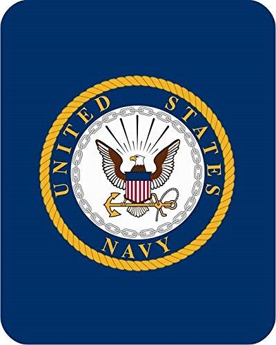 Regal Comfort US Navy Emblem Medium Weight Mink Blanket Officially Licensed by US Navy
