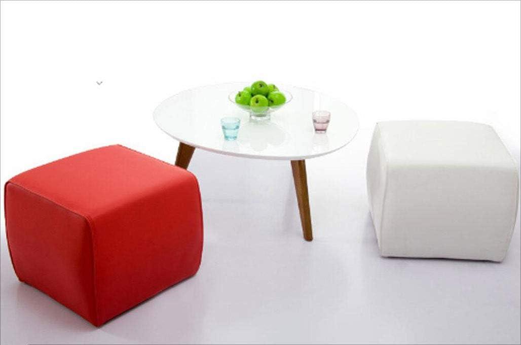 MYMAO Mode Tabouret, pédale Tabouret en Cuir Siège Moderne Chaise Repose-Pieds, Repose-Pieds Tabouret,Classic Black Big Red