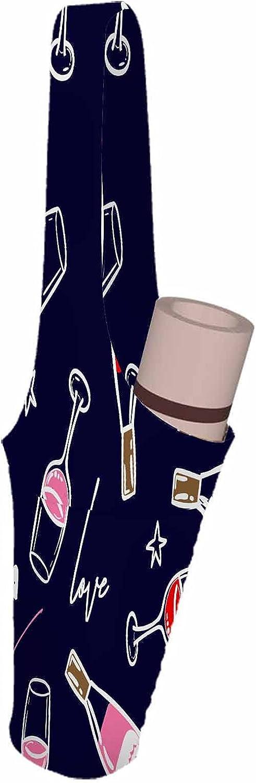 Nicokee Yoga Mat Bag Wine Glass Star Challenge the lowest price of Japan ☆ Cartoon Bottle Atlanta Mall Goblet Pink