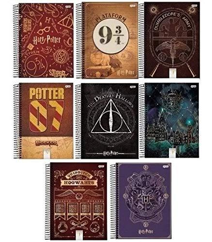 Kit 5 Cadernos Harry Potter Espiral 96fls Jandaia - Sortido