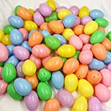 24 Medium Plastic Easter Eggs, Pastel Decoration for Spring Crafts Family Fun & Kids Toys (2-Packs of 12)